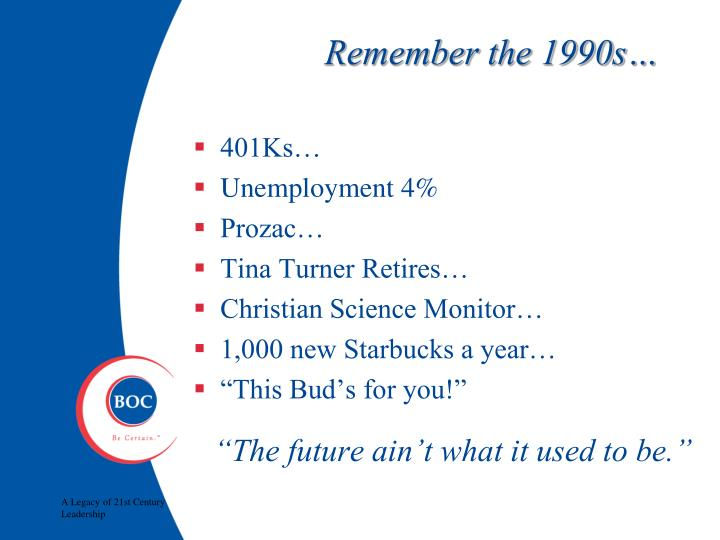 Remember the 1990s…