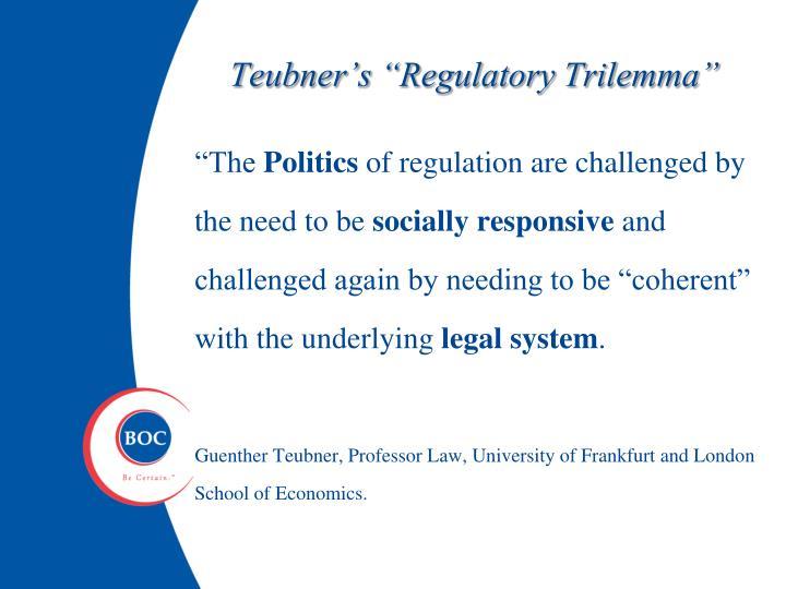 "Teubner's ""Regulatory Trilemma"""