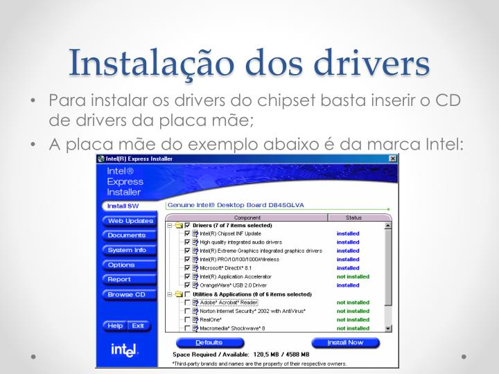 Instalação dos drivers