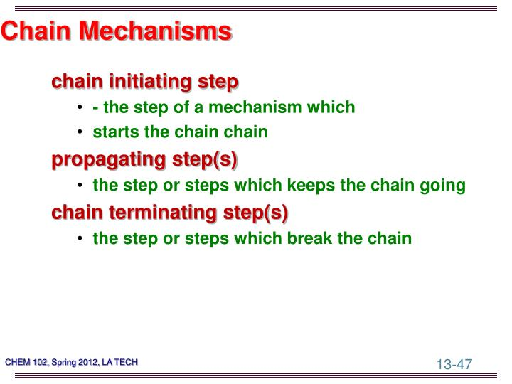 Chain Mechanisms