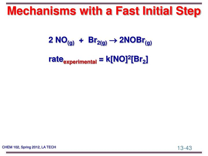 Mechanisms with a Fast Initial Step