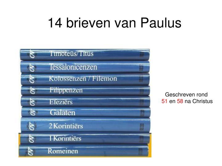 14 brieven van Paulus