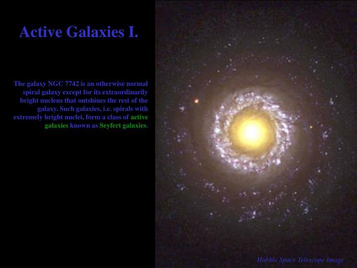 Active Galaxies I.