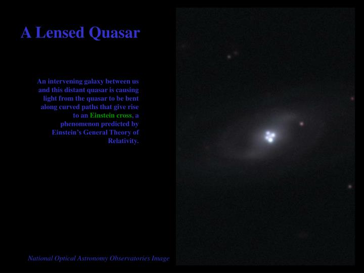 A Lensed Quasar