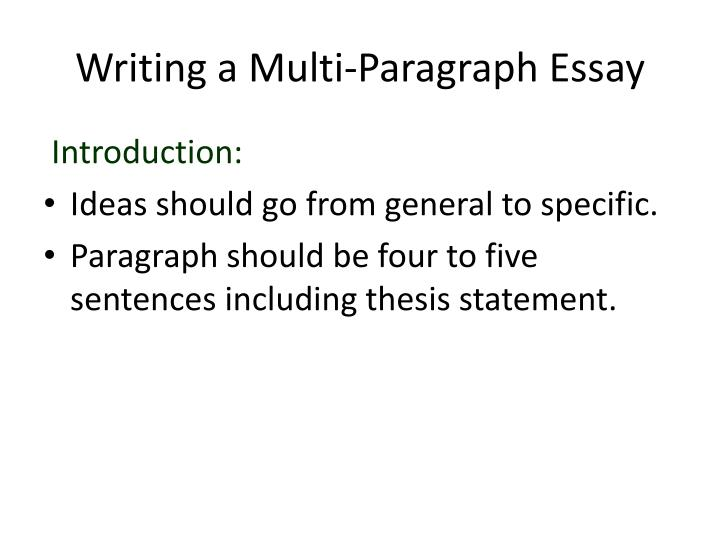 thesis statements and introductory paragraphs