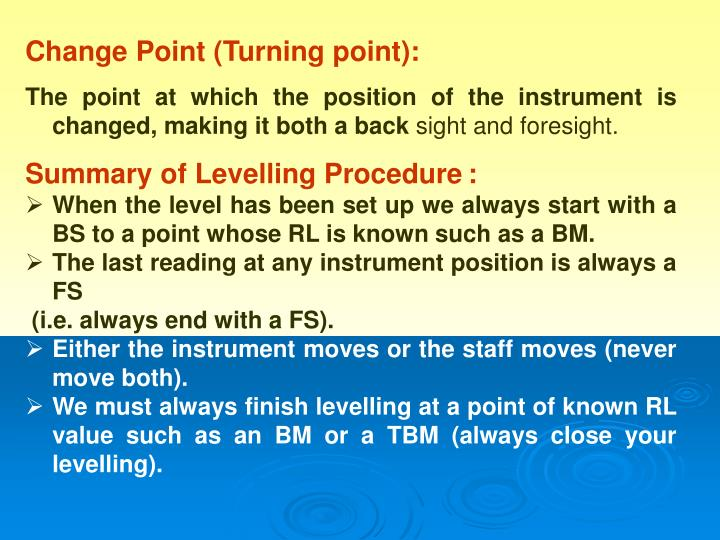 Change Point (Turning point):
