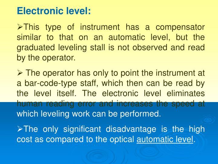 Electronic level: