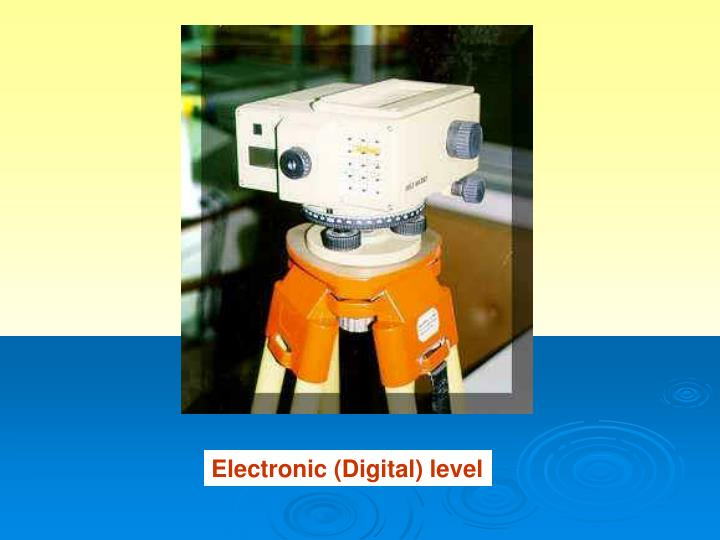 Electronic (Digital) level