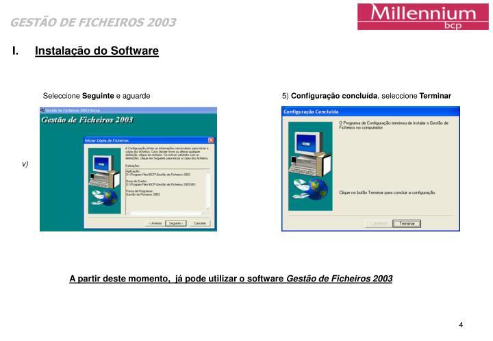 Instalação do Software