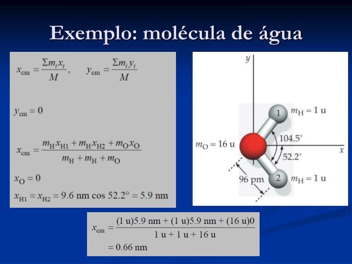 Exemplo: molécula de água