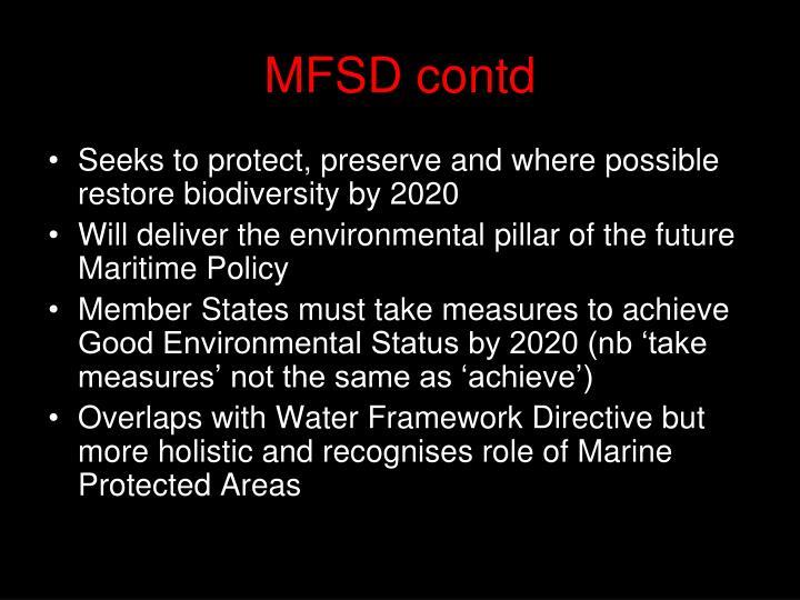 MFSD contd