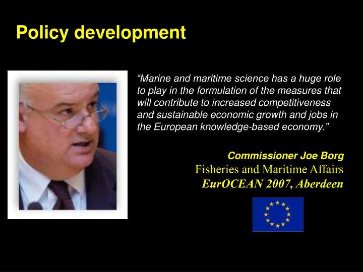 Policy development