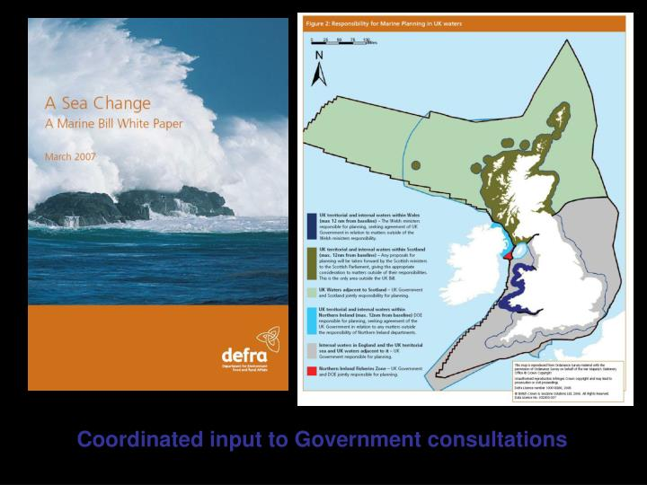 Coordinated input to Government consultations