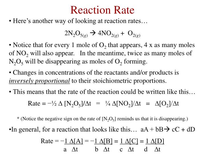 Here's another way of looking at reaction rates…