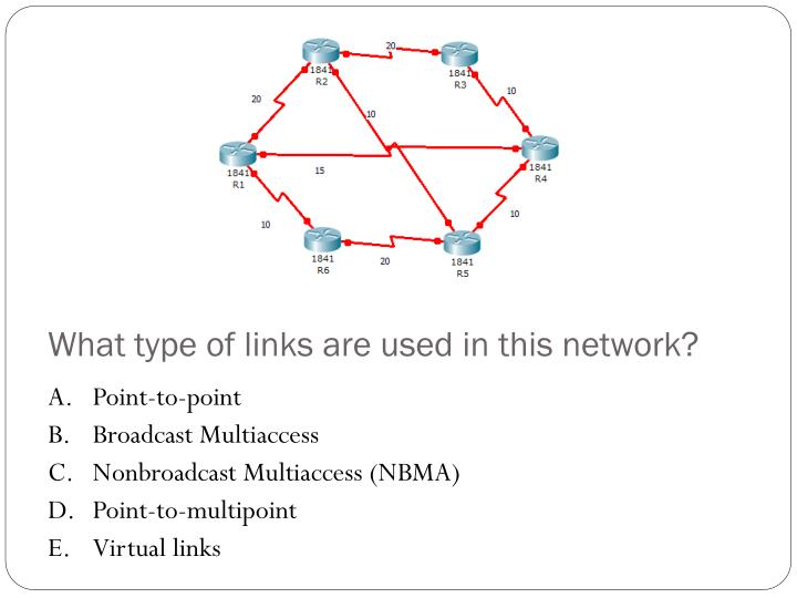 What type of links are used in this network?