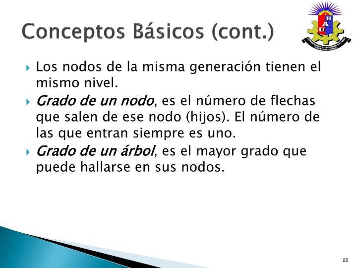 Conceptos Básicos (cont.)