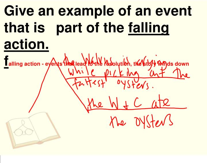 Give an example of an event that is part of the