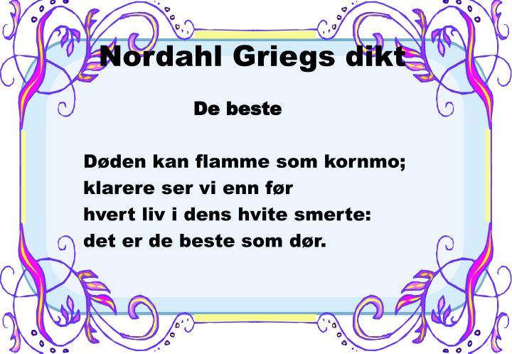 Nordahl Griegs dikt
