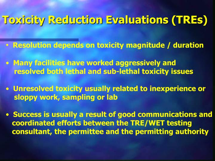 Toxicity Reduction Evaluations (TREs)