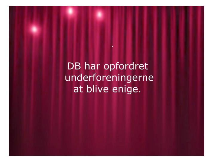 DB har opfordret