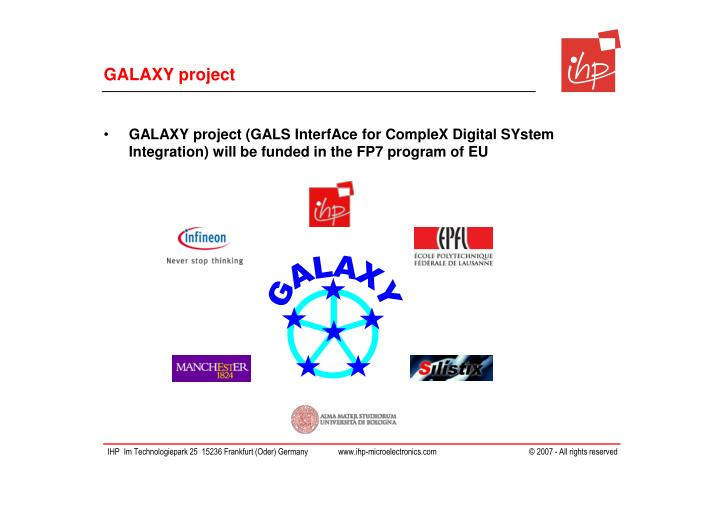 GALAXY project