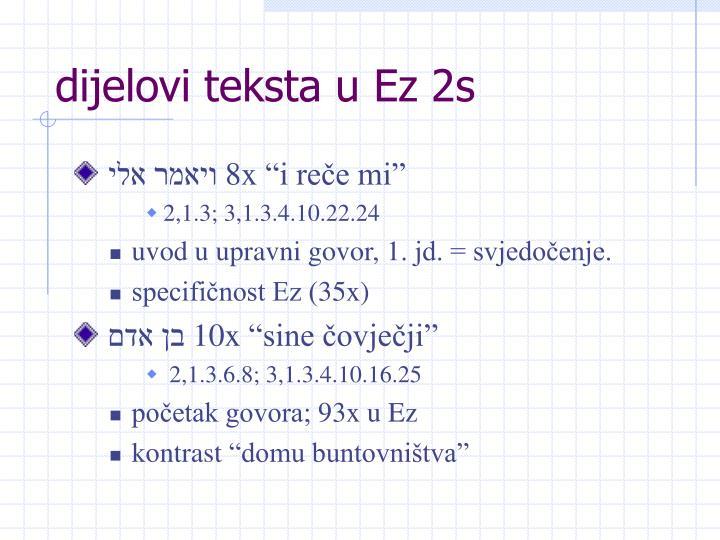 dijelovi teksta u Ez 2s