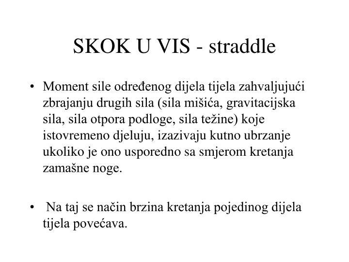 SKOK U VIS - straddle