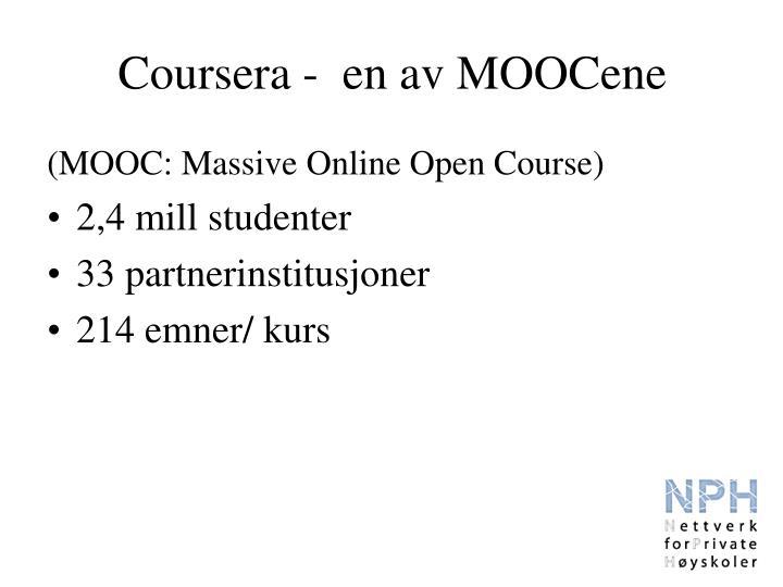 Coursera -  en av MOOCene