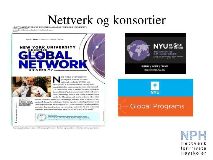 Nettverk og konsortier