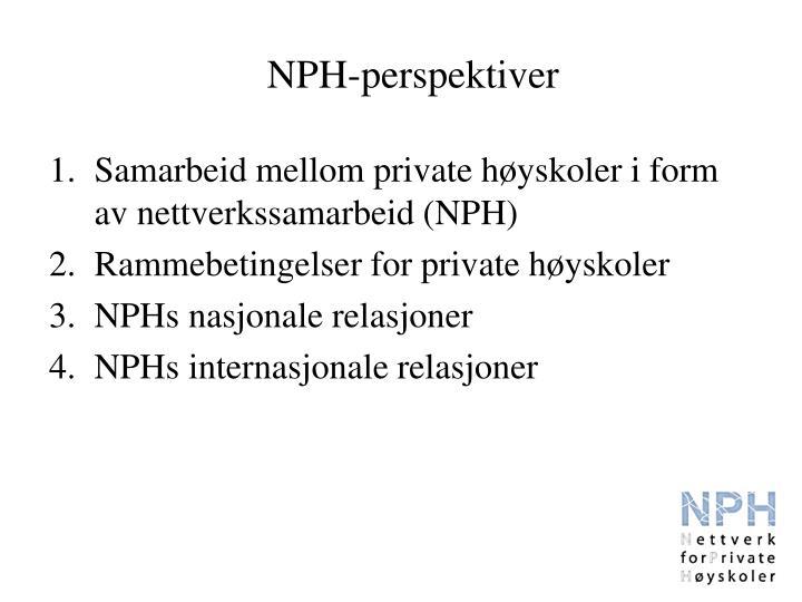 NPH-perspektiver