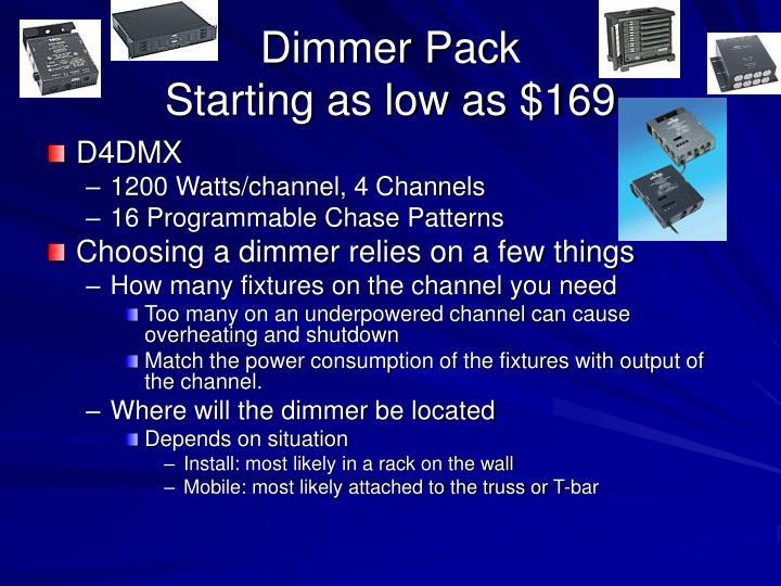 Dimmer Pack