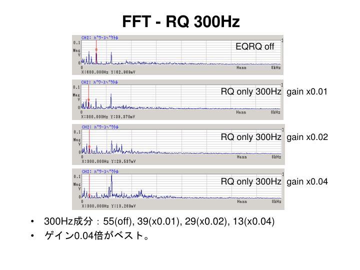 FFT - RQ 300Hz