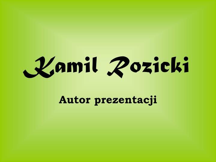 Kamil Rozicki