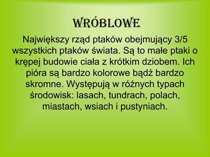 Wróblowe