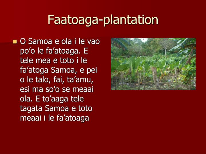 Faatoaga-plantation
