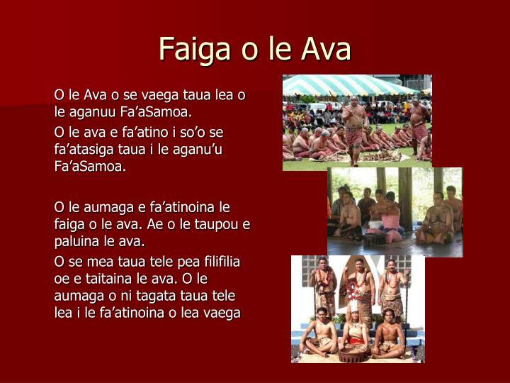 Faiga o le Ava