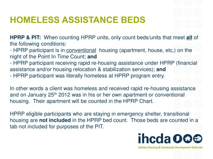 Homeless assistance beds