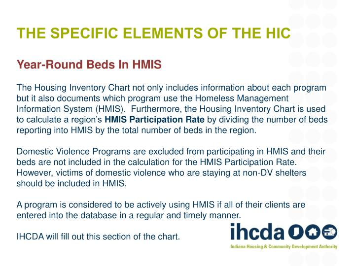 The Specific Elements of the HIC