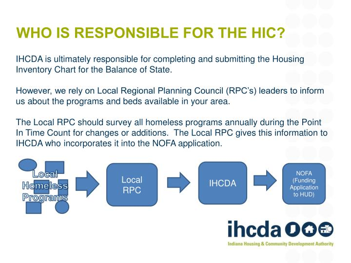 Who is responsible for the hic?