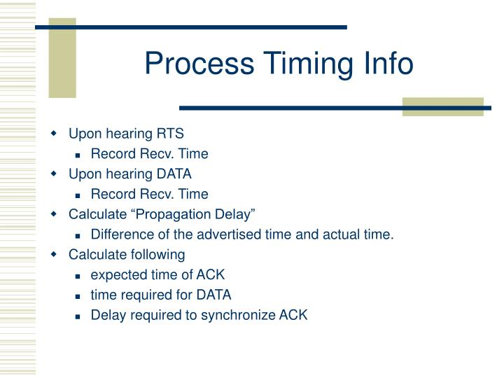 Process Timing Info