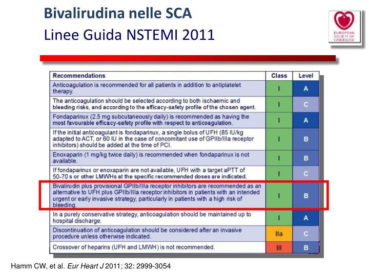 Bivalirudina nelle SCA