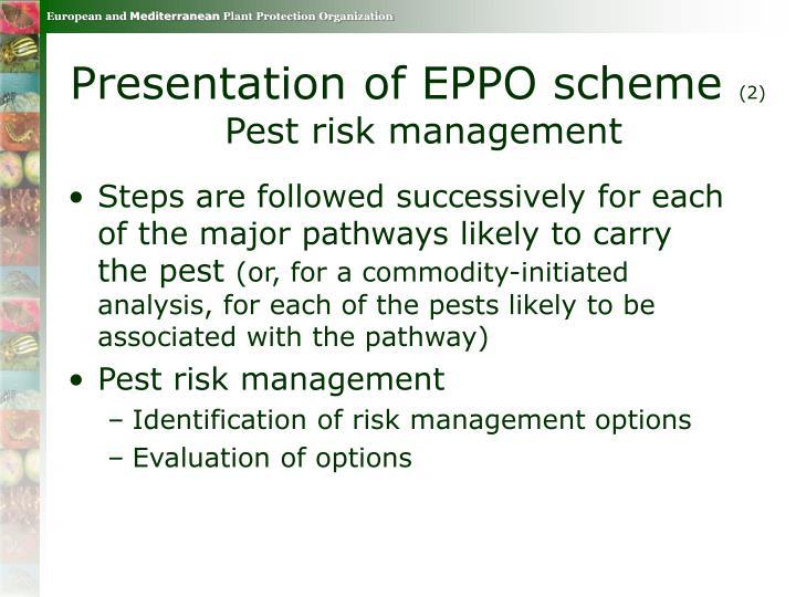 Presentation of EPPO scheme
