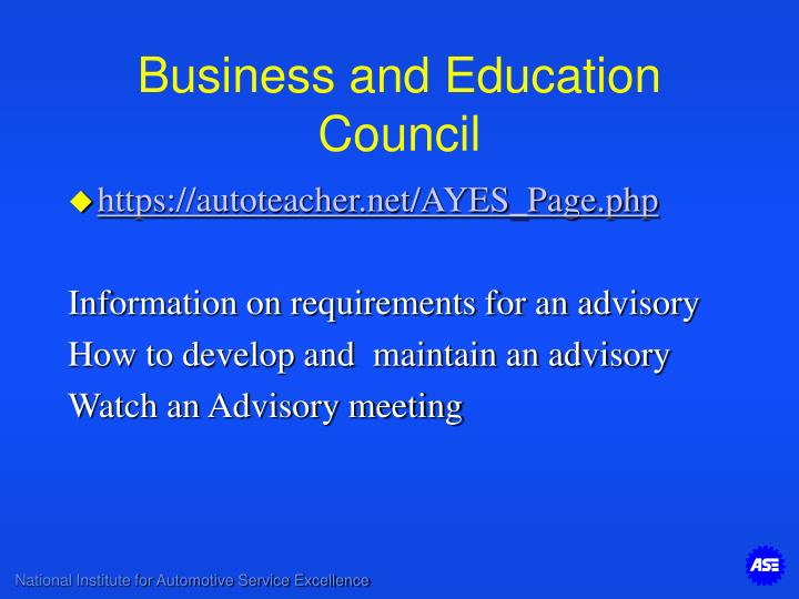 Business and Education Council