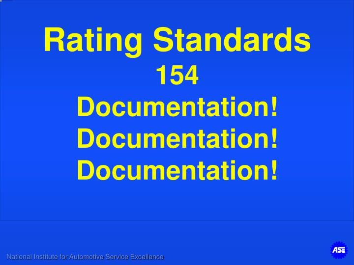 Rating Standards