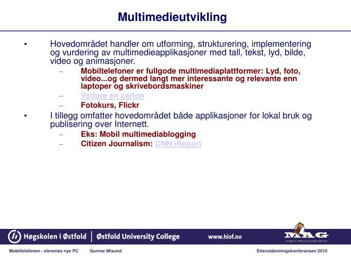 Multimedieutvikling