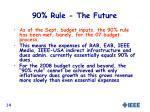 90 rule the future