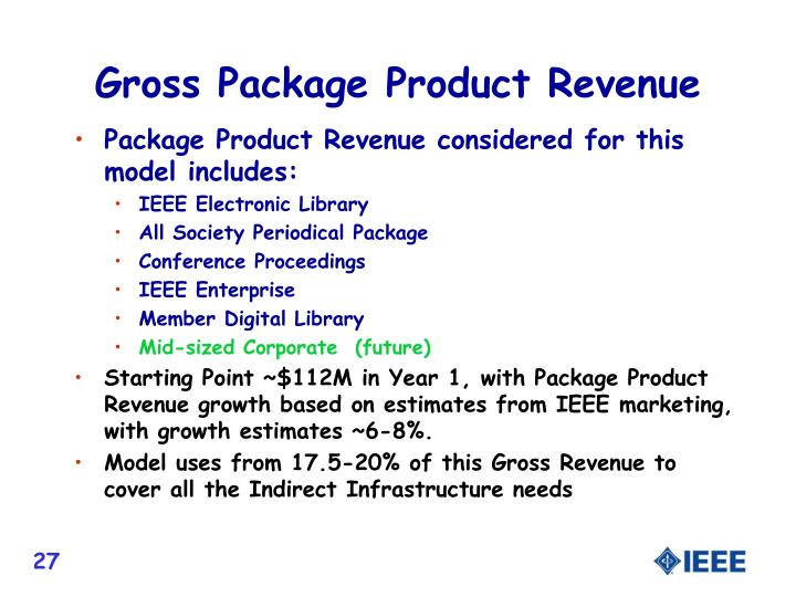 Gross Package Product Revenue