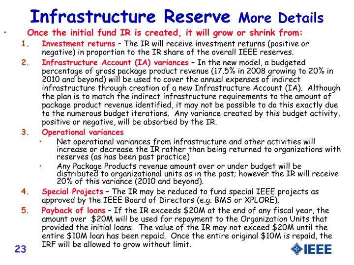 Infrastructure Reserve