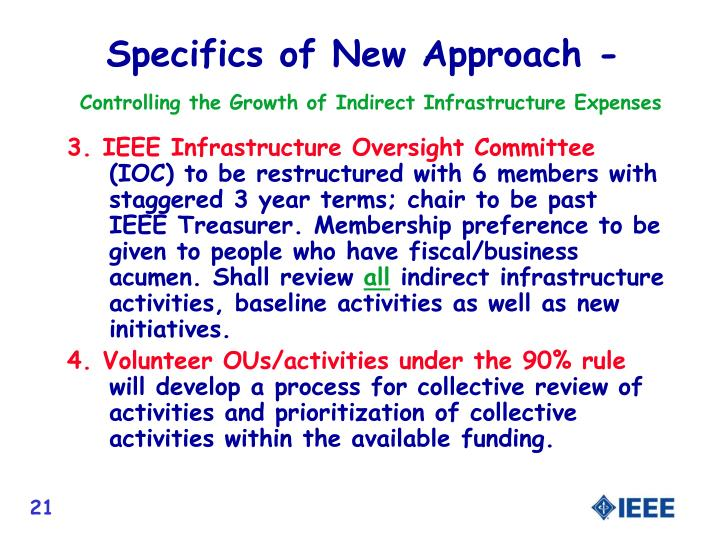 Specifics of New Approach -