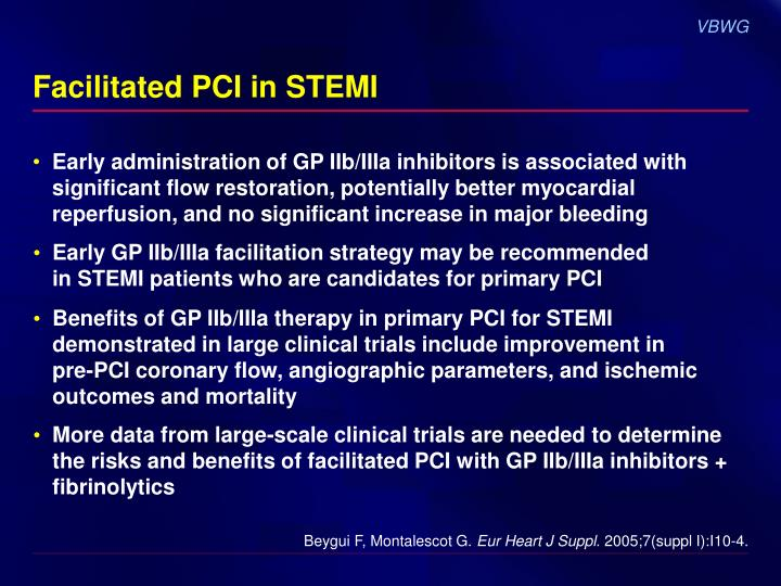 Facilitated PCI in STEMI